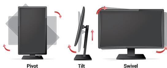 Fonctions ergonomiques pour votre écran PC