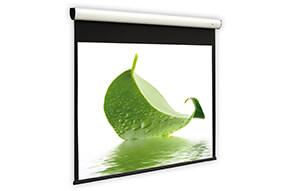 Ecran de projection motorisé DELUXX Cinema Elegance Blanc Mat Varico Flat 203 x 114 cm