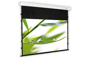Ecran de projection motorisé DELUXX Cinema Elegance Blanc Mat Varico Flat 244 x 137