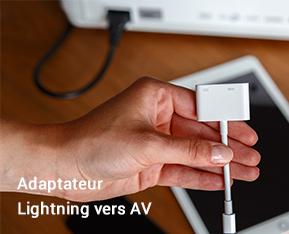 Adaptateur Lightning vers AV