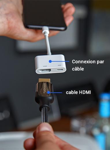 Connexion par cåble