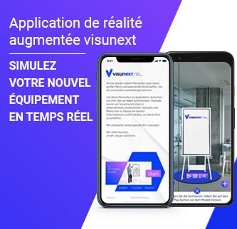Application de réalité augmentée visunext - Simulez votre nouvel équipement en temps réel