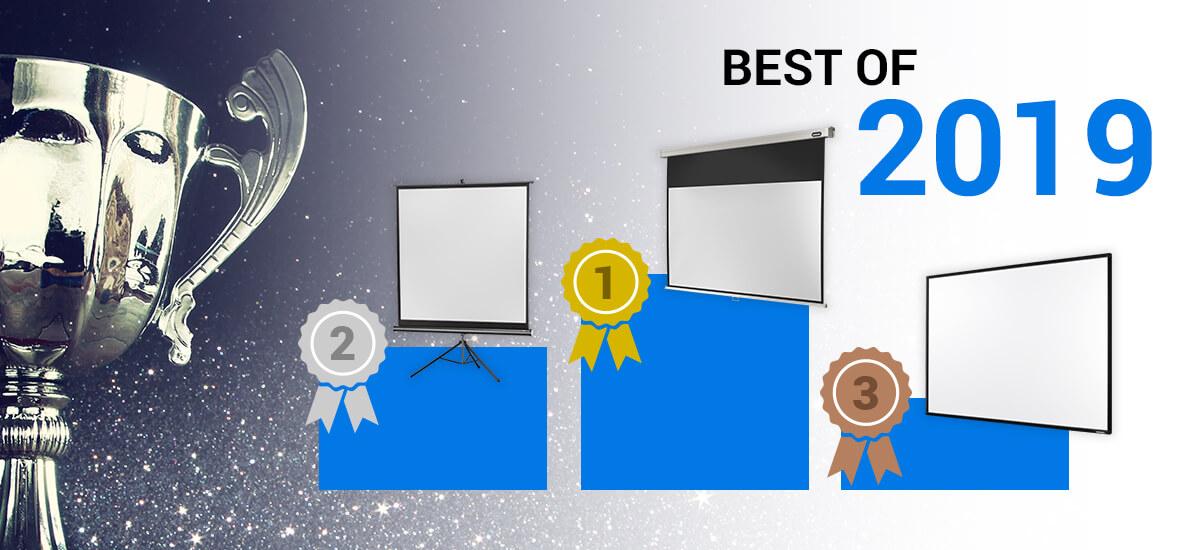 Best of 2019 - Test des meilleurs écrans de projection