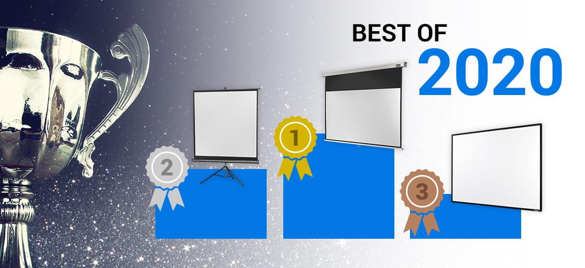 Best of 2020 - Test des meilleurs écrans de projection