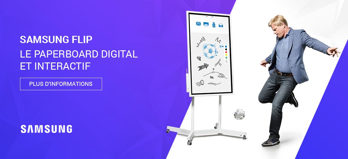 Samsung Flip - Le paperboard digital et interactif